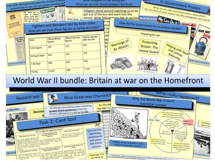 World War 2:  Britain at war on the Homefront in World War II