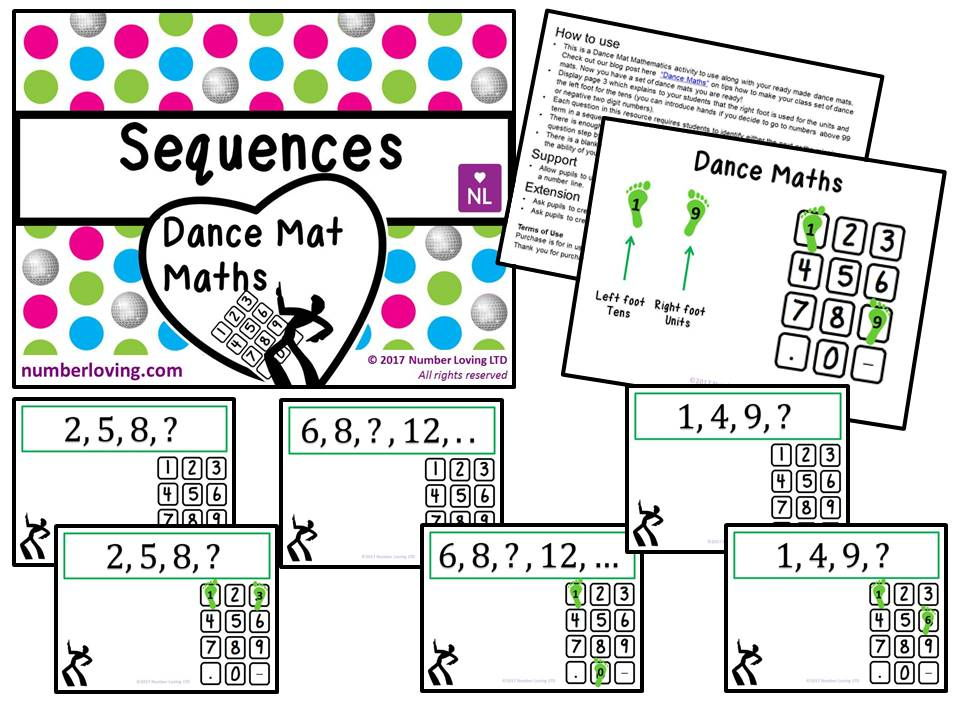 Sequences (Dance Mat Maths)