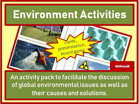 English, Geography, EAL, ESL, EFL: Environment Issues - Presentation, Cards, Board Game