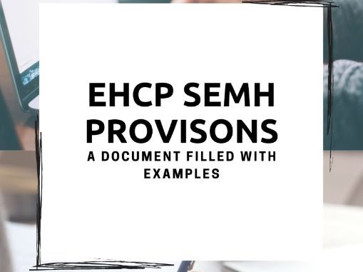 EHCP provisions sheet for SEMH SEN