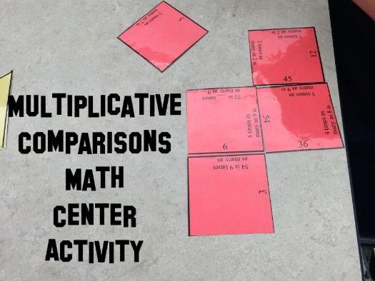 Multiplicative Comparison 4.OA.1 magic square