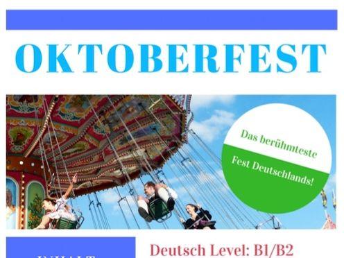Oktoberfest! - Leseverstehen, Landeskunde Deutschland / Bayern, German Culture, 10 pages + solutions