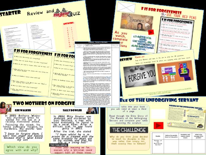 GCSE: forgiveness
