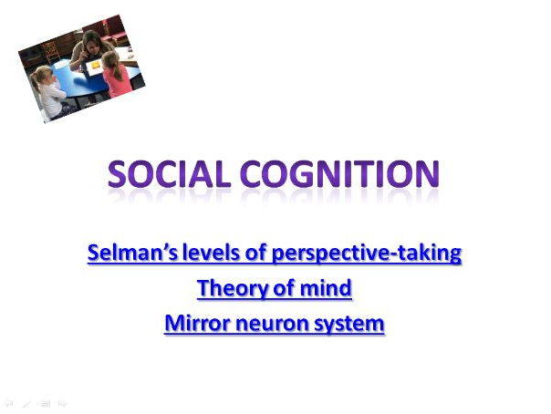 AQA psychology Cognition and development- Social cogntion