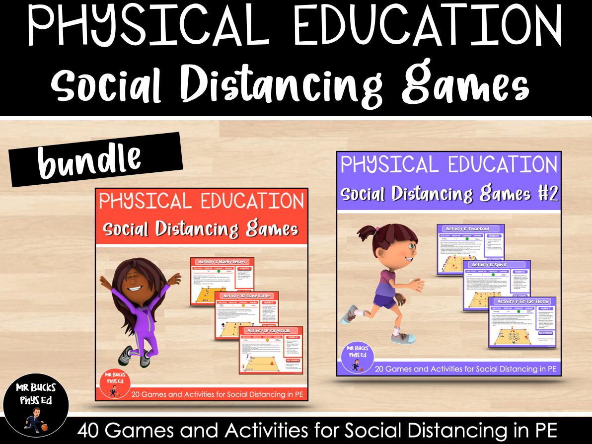 Physical Education Social Distancing Games Bundle
