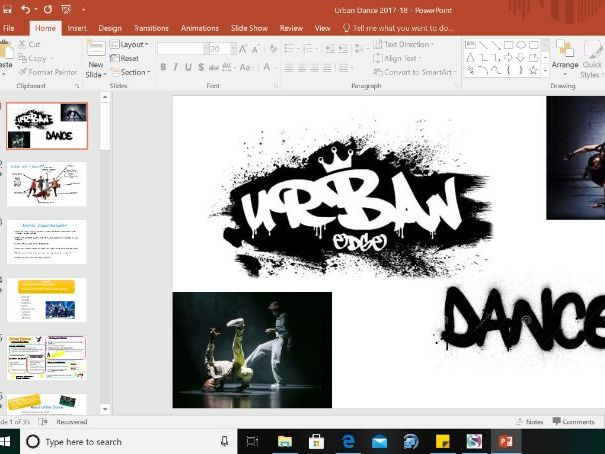 urban/street dance, key stage 3, year 8 complete unit power point. 8 weeks