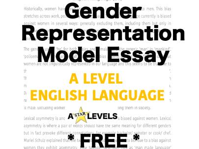 Language and Gender Essay AQA English language A level