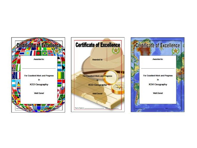Geography Certificates