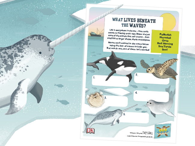 Name The Ocean Animals Activity Sheet