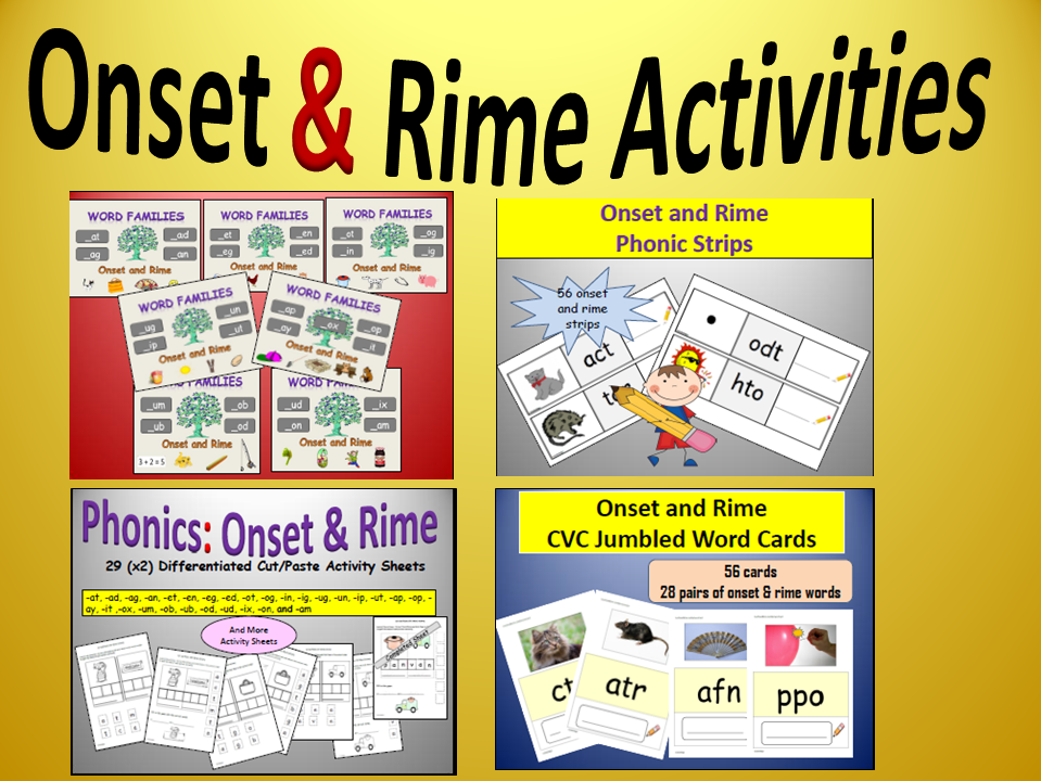 phonics onset and rime activity bundle by ro milli0110 teaching resources tes. Black Bedroom Furniture Sets. Home Design Ideas
