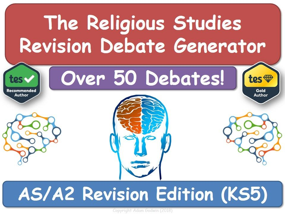 KS5 RS - Revision Debate Generator! (Revision, Religious Studies, AS, A2, Revision, RS, RE, OCR)