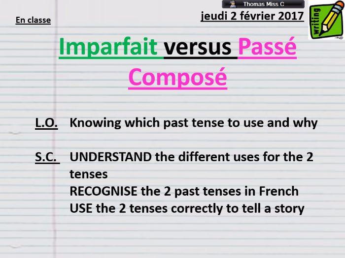 OUSTANDING Lesson - Past Tense - Imparfait vs Passé Composé - Grammar - French - AFL