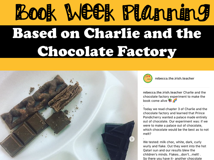 Book Week Planning: Charlie and the Chocolate Factory