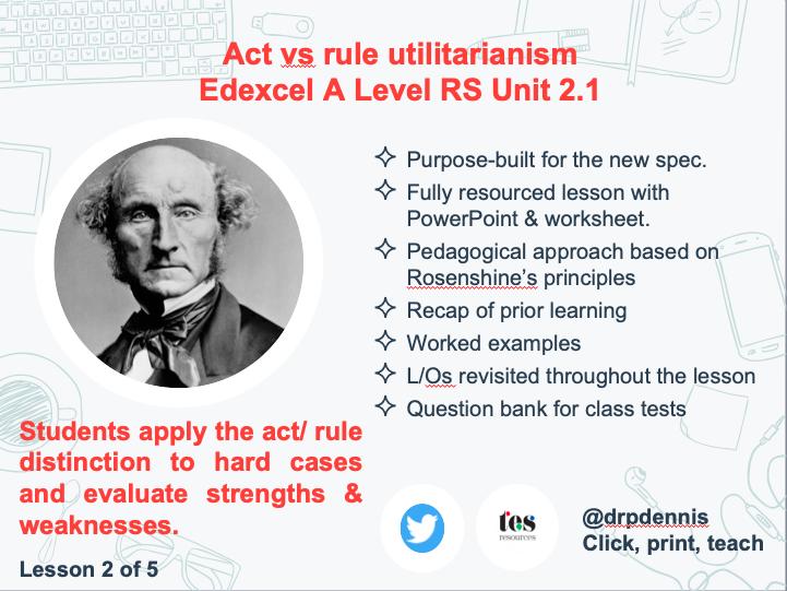 Act vs Rule Utilitarianism (Exexcel new spec)
