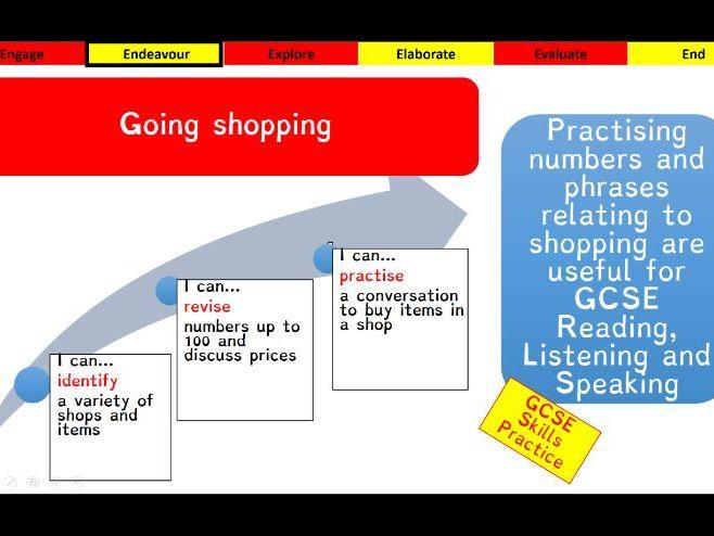 Viva GCSE - Module 5 - De compras - Lesson 1
