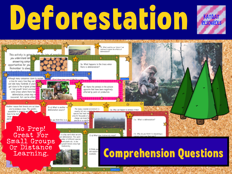 Deforestation Comprehension Short Passages Practice