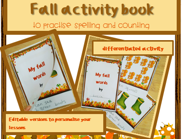 Autumn activity for infants ESL: vocabulary book