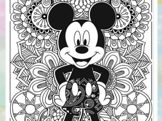 DISNEY Mandalas and Colouring pages