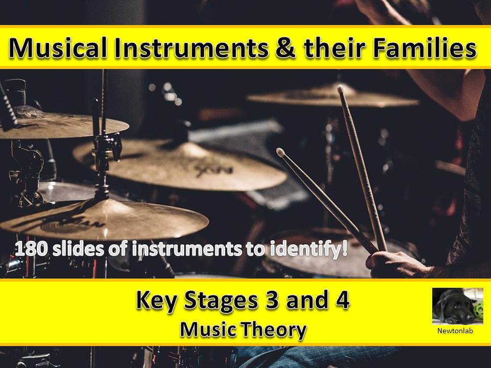 Musical Instruments & their Families - Music Theory - Key Stages 3 and 4