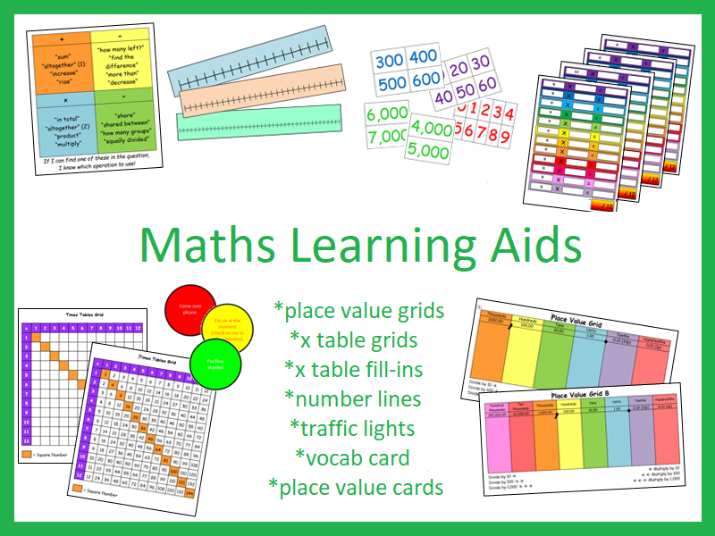 Maths Learning Aid Collection