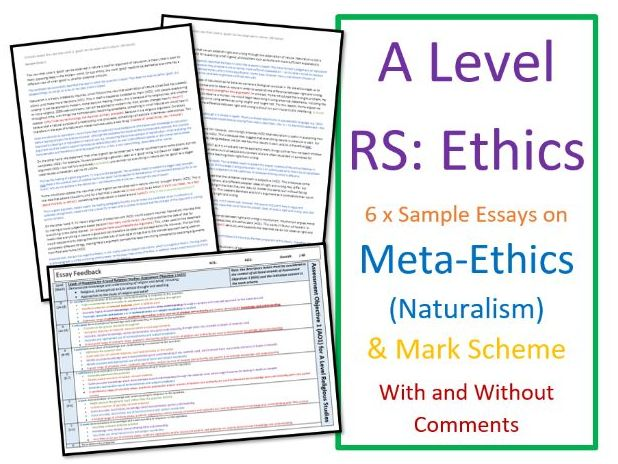 A Level Religious Studies: Model Essays: Ethics - Meta-ethics (Naturalism)