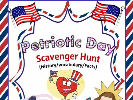 Patriotic Day Scavenger Hunt - An Activity on American Revolution