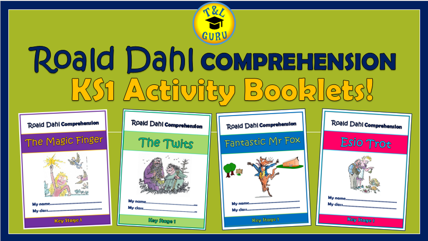 Roald Dahl KS1 Comprehension Activity Booklets Bundle! (Aligned with the Curriculum Expectations)