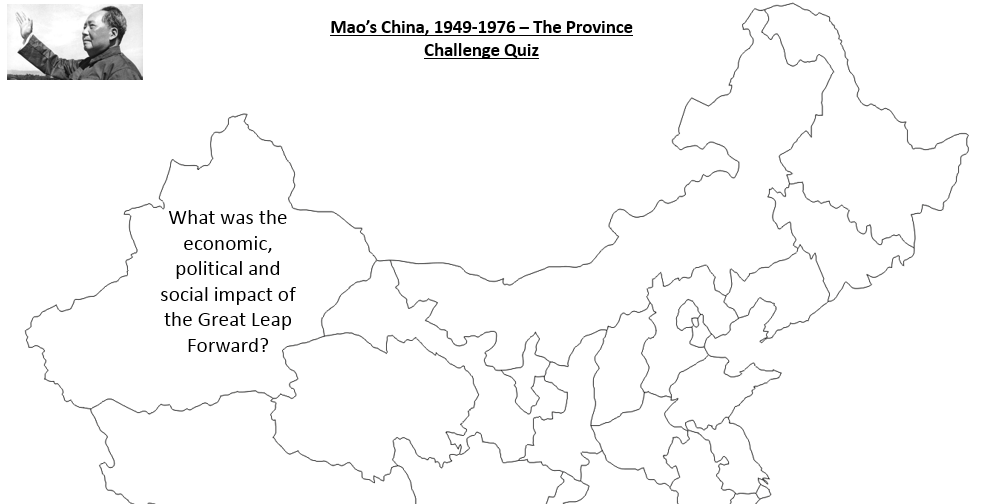 Mao's China - Province Revision Challenge