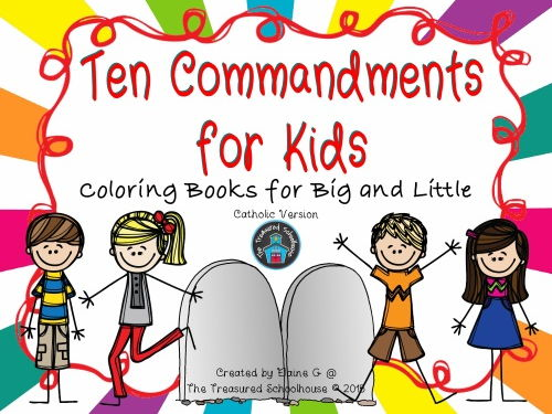 Ten Commandments for Kids Coloring Booklets - Catholic