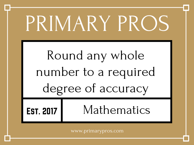 Round any whole number to a required degree of accuracy