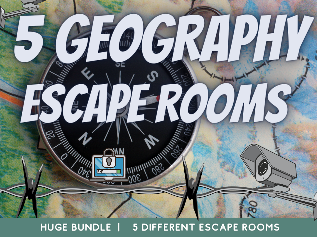 Geography End of Year Escape Rooms