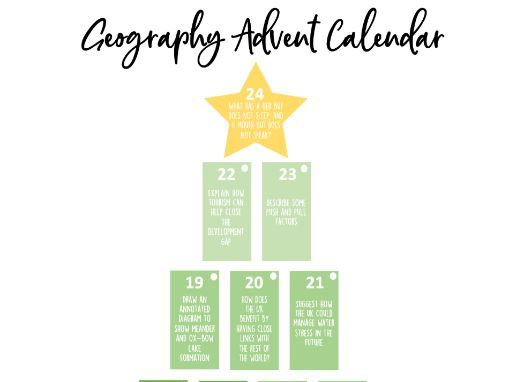 Geography advent calendar