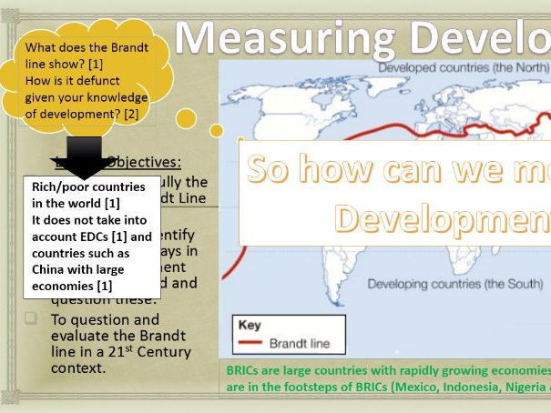 WJEC B 2017 NEW LESSONS 14) Measuring Development (2) WITH ANSWERS