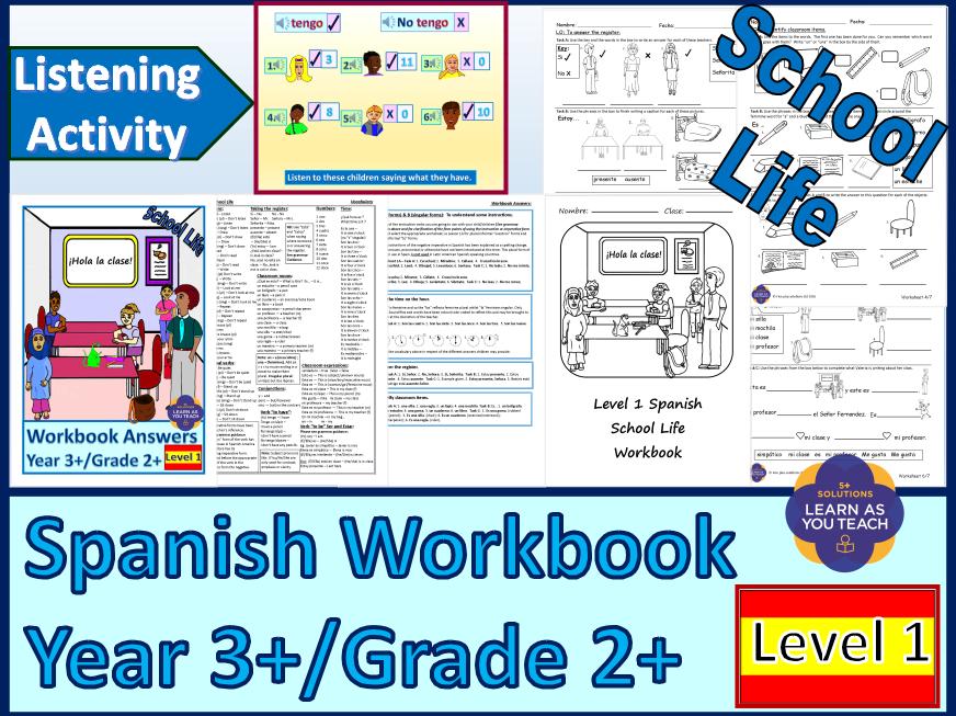 PRIMARY SPANISH WORKBOOK - SCHOOL LIFE
