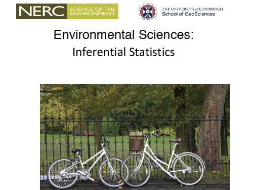 Environmental Sciences: Inferential Statistics
