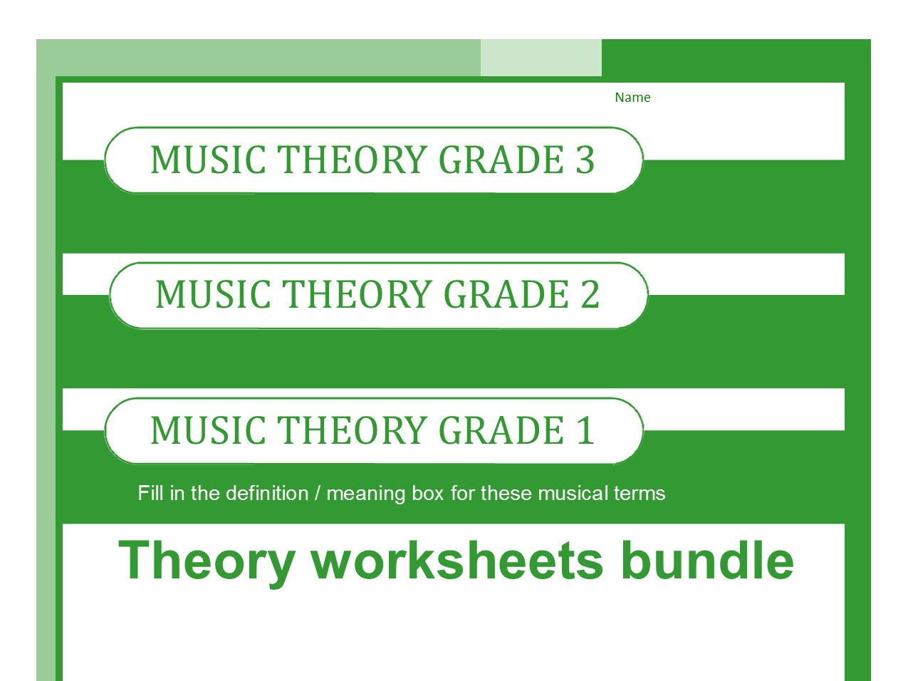 worksheet Theory Worksheets music theory worksheets for grades one two and three by sparkhallo teaching resources tes
