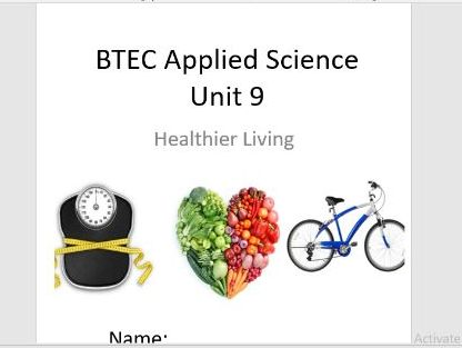 BTEC Level 1 in Science Workbook – Unit 9