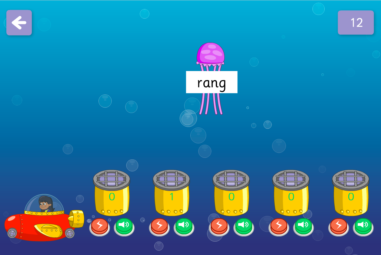 Zap the Fish Game - Vowel Graphemes - Phase 3