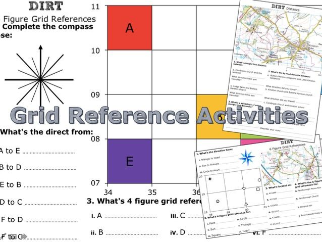 Grid Reference Mini Activities