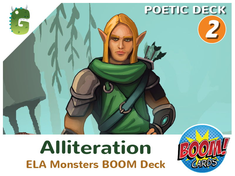 Alliteration Boom Cards (Poetic Language - Deck 2)