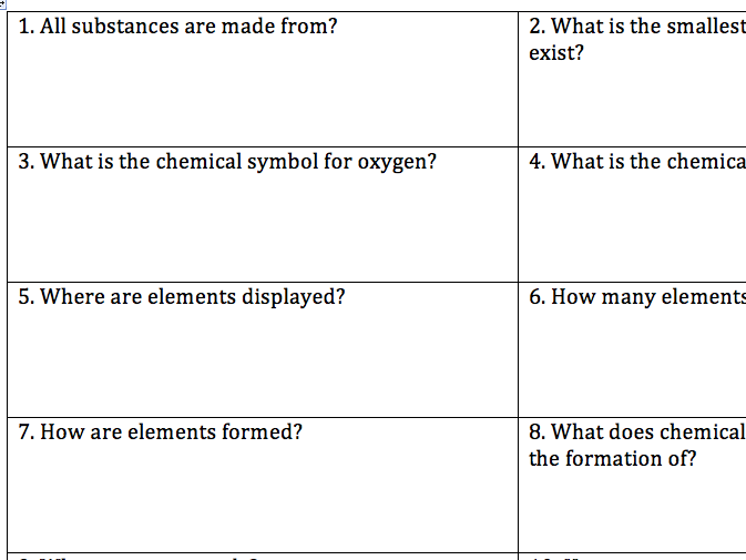 5.1 AQA Trilogy Atomic Structure Revision Qs From Specification