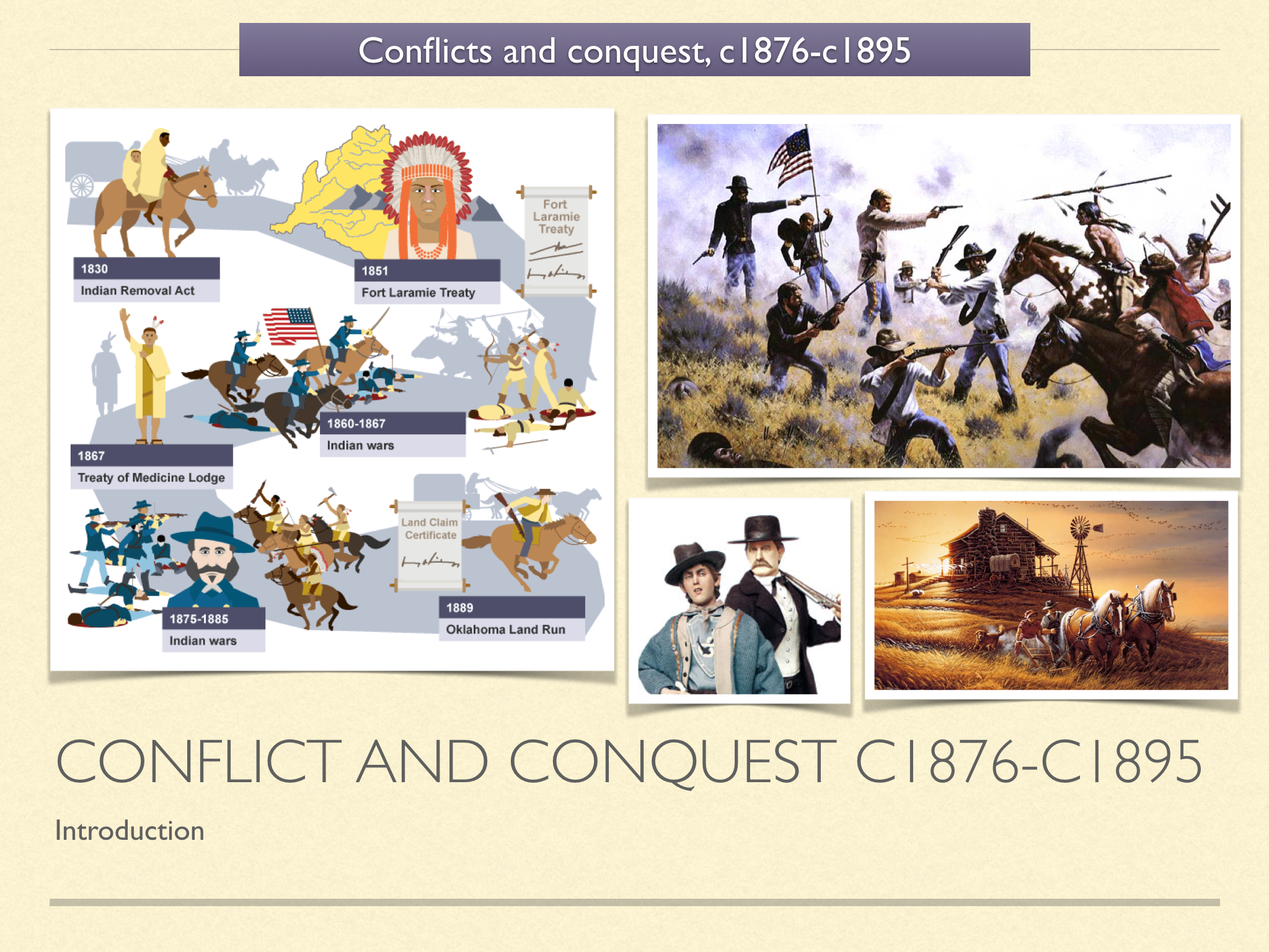 GCSE History of American West in 1800s Unit 3
