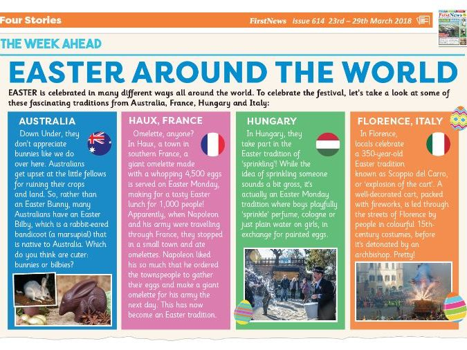 Easter Around the World KS2 Reading Comprehension
