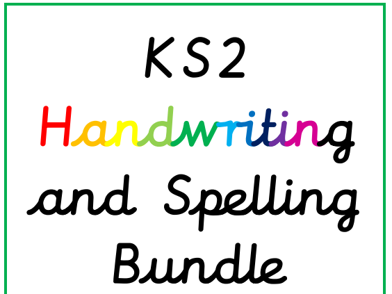 *KS2 Handwriting and Spelling Booklet Bundle*