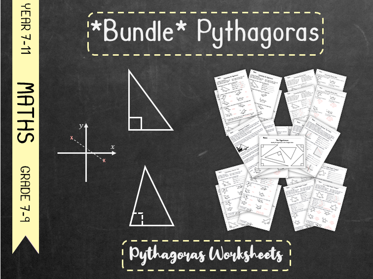 *Bundle* Pythagoras Worksheets *Bundle*