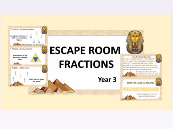 Escape Room: Fractions Y3 (White Rose Hub)