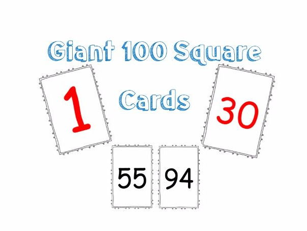 100 Square Cards
