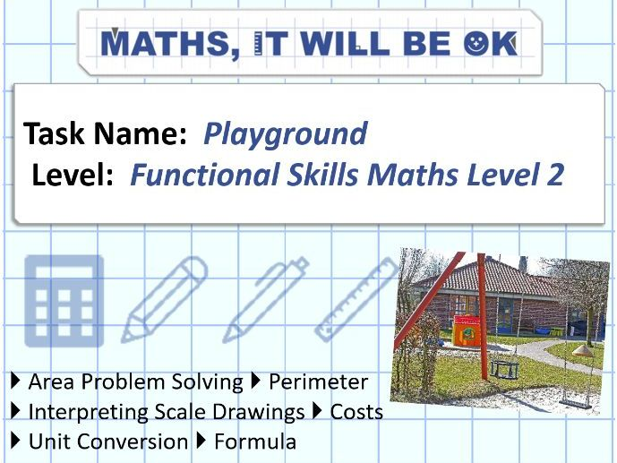 FS Maths Level 2 Scale - Playground - Exam Style
