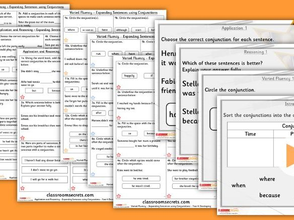 Grammar Year 4 Expanding Sentences using Conjunctions Autumn Block 1 Step 3 Lesson Pack