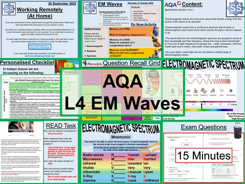 Physics GCSE Electromagnetic Waves AQA Lesson